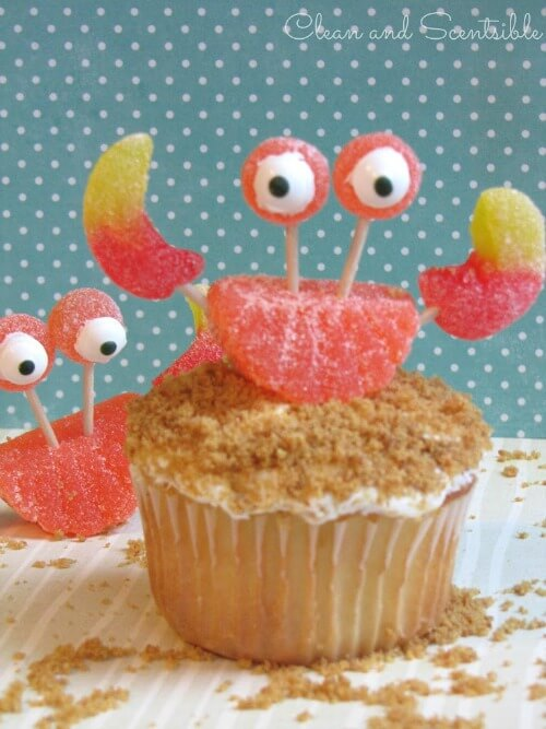 Mini-Oscars: The best children's movies of 2016 voted on by children   Halfpint Design - these crab cupcakes are darling AND easy to make!