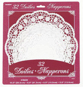 Super awesome and inexpensive doilies. Alice in Wonderland Tea Party Sources   Halfpint Design