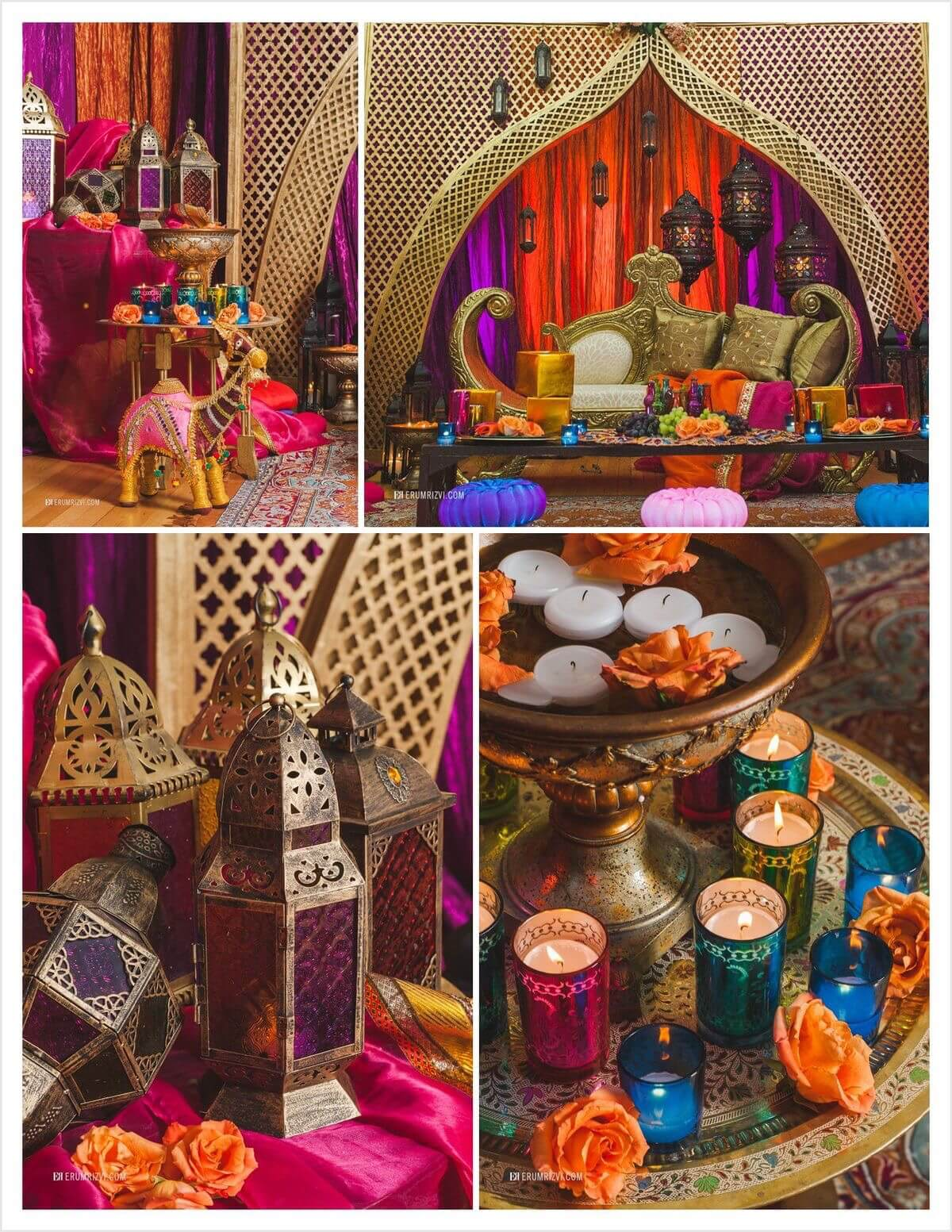 East Indian Boho, Bollywood, Arabian Nights and Moroccan inspired party. Small World gets big with cultural party themes | Halfpint Design