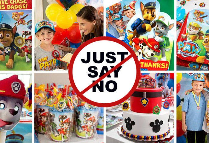 Just say No to licensed characters. Do I hate Paw Patrol. No. But it gets pretty overwhelming. I want to bring classy back to children's parties| Halfpint Design