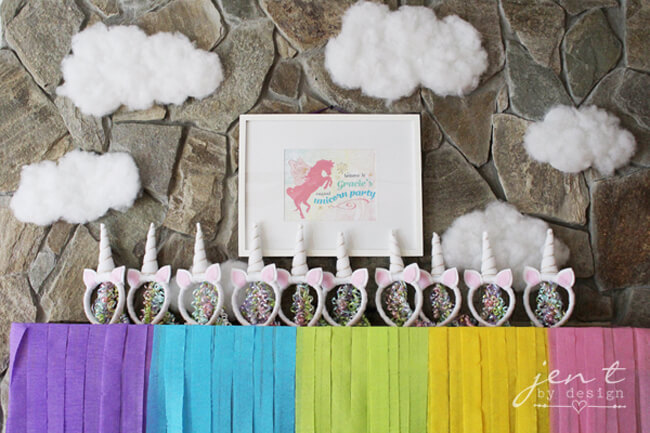 Unicorn. Rainbow - Color Party Trend 3: Color sets the stage for fabulous fun | Halfpint Design