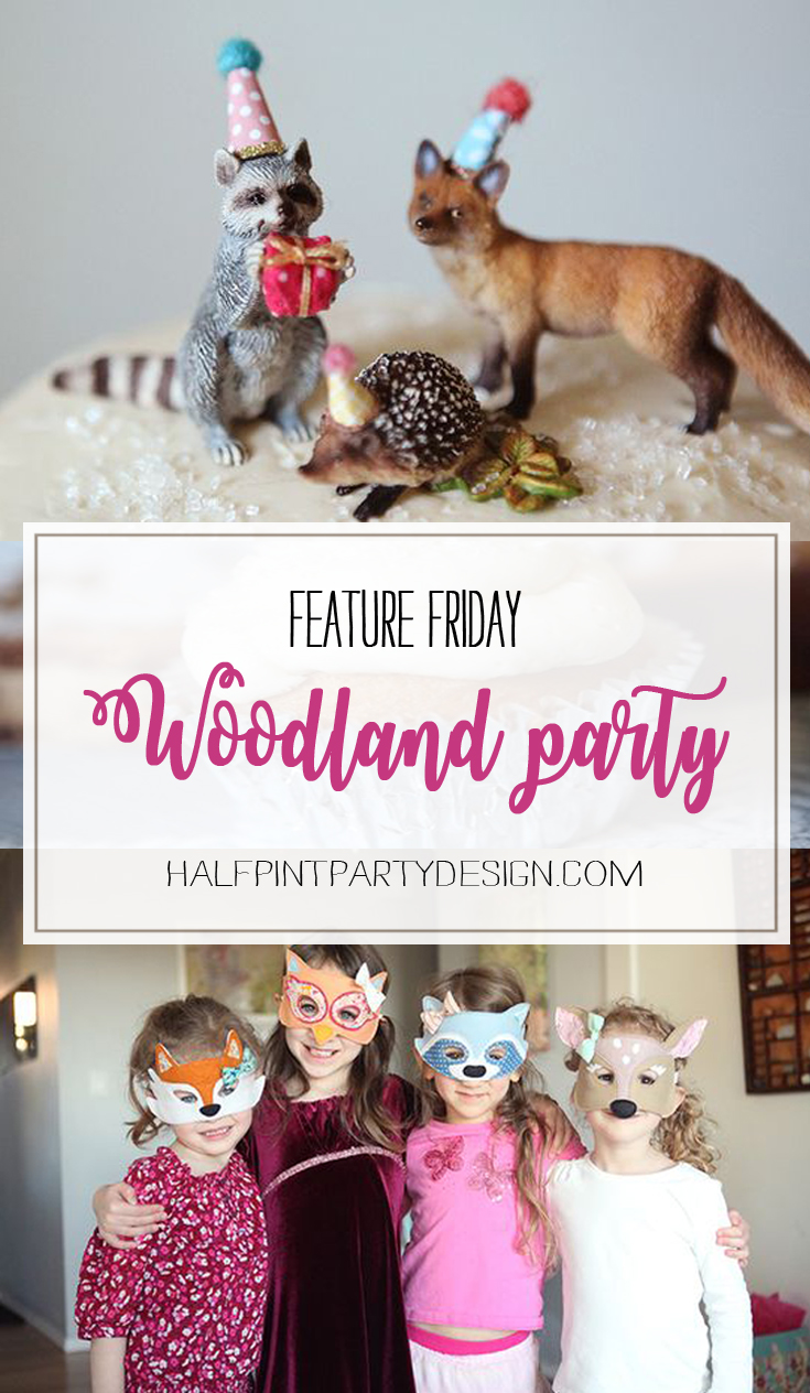 Feature Friday: Woodland Party! | Halfpint Design - this cute woodland party was simple but elegant. Come see the rest of the details...