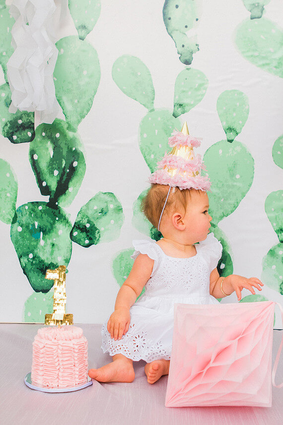 Top Party Trends for 2017. Trend 1: Still loving nature...fairy garden, lumberjack, camping, glamping, woodland, cactus. | Halfpint Design - Cactus 1st birthday party