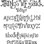 This font is just the right amount of whimsy for an Alice inspired party. Alice in Wonderland tea party sources   Halfpint Design