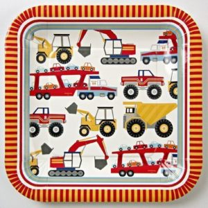 Construction Party Sources | Halfpint Design - Meri Meri Big Rig lunch plates