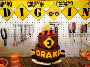 Construction Party Menu | Halfpint Party - construction cake