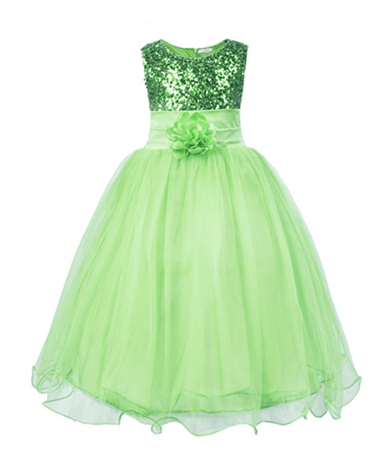 Green party supplies | Halfpint Design - This sweet green party dress is perfect for the birthday girl or guest of honor for a Princess and the Frog party, St. Patrick's Day party, or anything green!