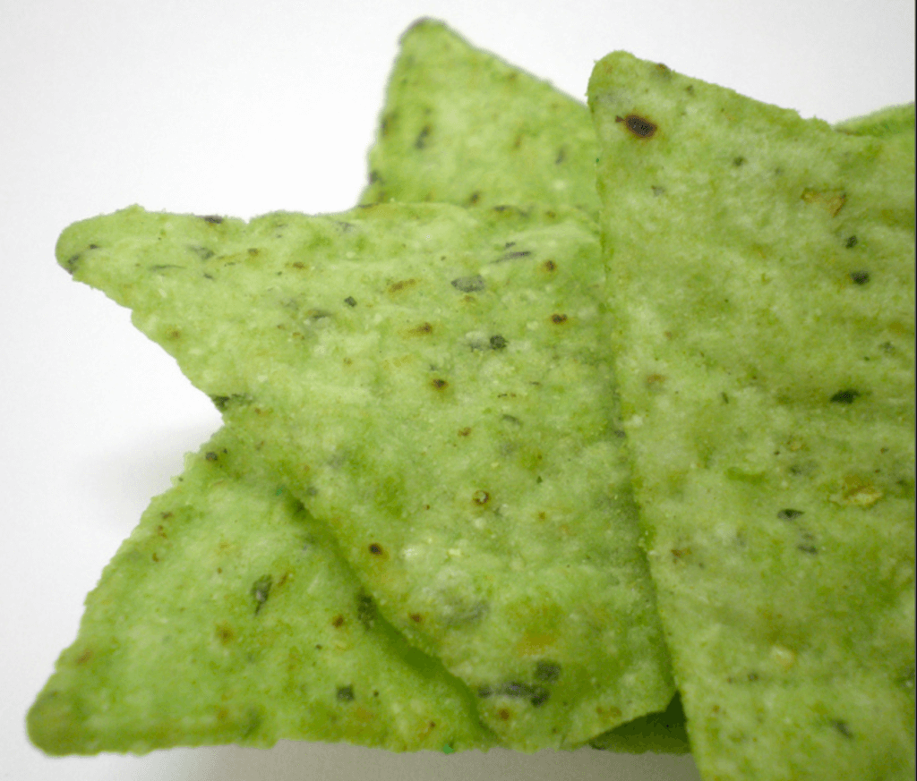 Green party supplies | Halfpint Design - These green guacamole chips are a fun menu addition for a great St. Patrick's Day party or a Dinosaur party, Princess and the Frog party, reptile party, etc.