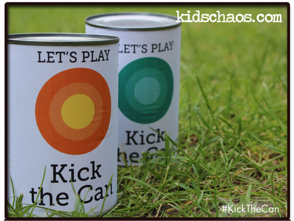 Party activities for boys 3-5 | Halfpint Design - Kick the can to get those kids moving!