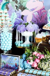 Choosing the Perfect Party Color Scheme | Halfpint Design - 3 color harmony, analogous mermaid party
