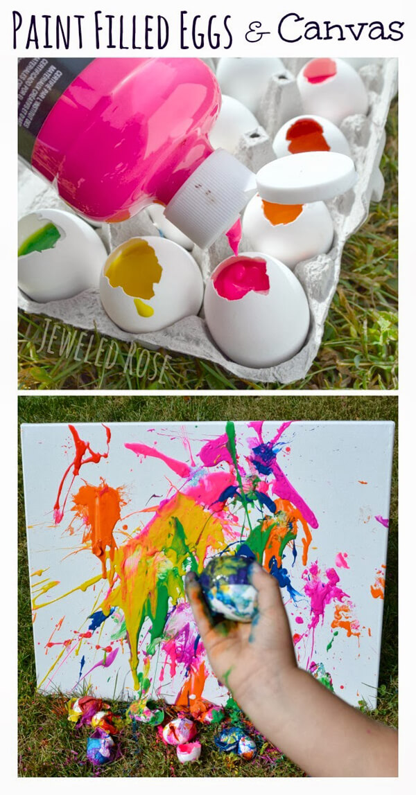 Party activities for boys 3-5 | Halfpint Design - What could be more fun that throwing eggs filled with paint? Perfect activity for an Art Party
