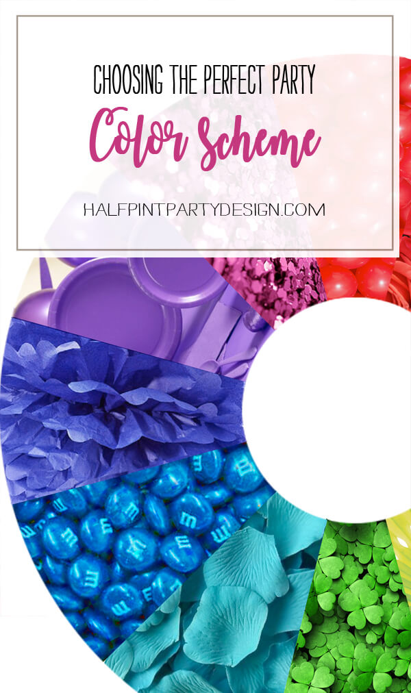Choosing the Perfect Party Color Scheme | Halfpint Design - Learn how to create color harmonies