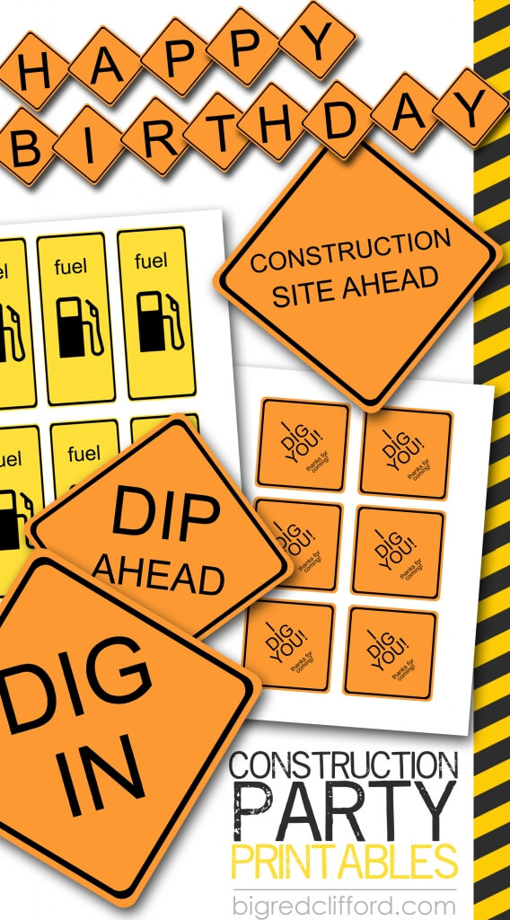 graphic relating to Construction Signs Printable identified as composition-occasion-free of charge-printable-symptoms-decorations-bash