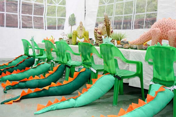 Dinosaur party. Greenery Inspired Parties   Halfpint Design - how cute are these dinosaur tails!?