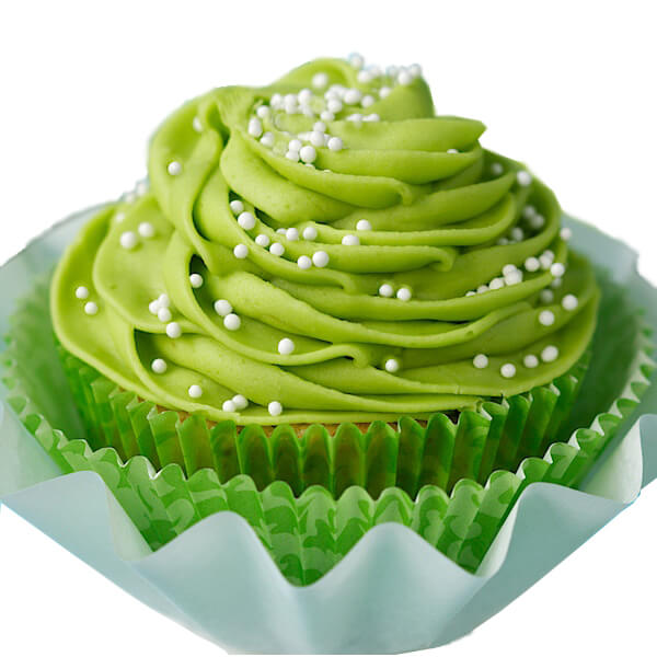 Green party supplies | Halfpint Design - This green avocado cupcake makes for a great St. Patrick's Day party or a fun addition to a Dinosaur party, Princess and the Frog party, reptile party, etc. I'm curious about an avocado cupcake??