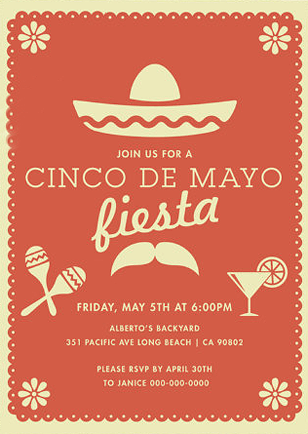 Host a Fabulous Fiesta for Cinco de Mayo | Halfpint Design - Love these Cinco de Mayo invites from Thank You Papers. Available in 5 colors.