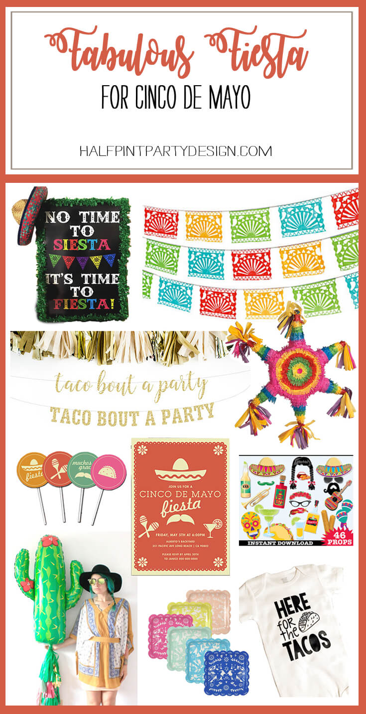 Host a Fabulous Fiesta for Cinco de Mayo | Halfpint Design - Ten of the best party supplies for a fabulous Cinco de Mayo fiesta!Host a Fabulous Fiesta for Cinco de Mayo | Halfpint Design - Ten of the best party supplies for a fabulous Cinco de Mayo fiesta!