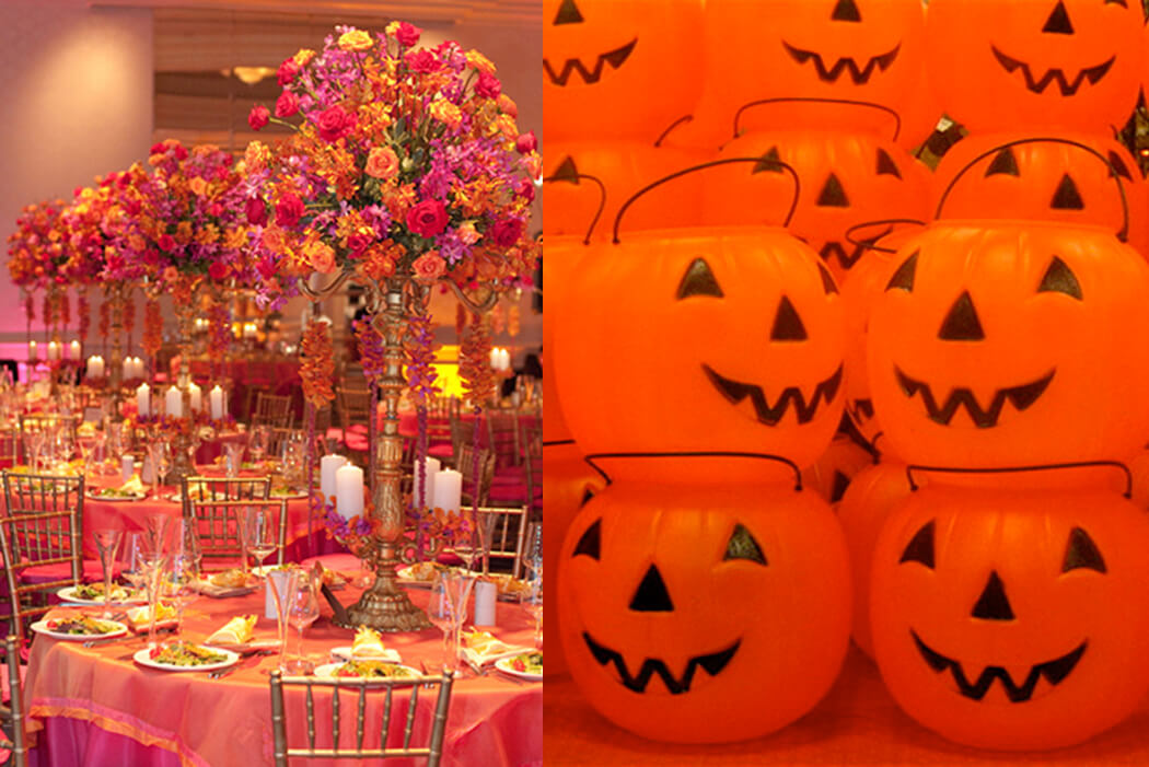 "Springtime Party Color Palettes | Halfpint Design - We all have individual color associations based on personal experience and culture. I think of plastic pumpkins when I hear ""orange"" whereas this Indian wedding uses orange in a very elegant way"