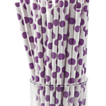 A Passion for Purple | Halfpint Design - Polka dot straws make a cute addition to any purple party! Use for beverages, cake pop sticks, and more