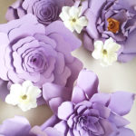 A Passion for Purple | Halfpint Design - Giant paper flowers on Etsy
