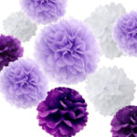 A Passion for Purple | Halfpint Design - Purple tissue poms make a huge impact when grouped together