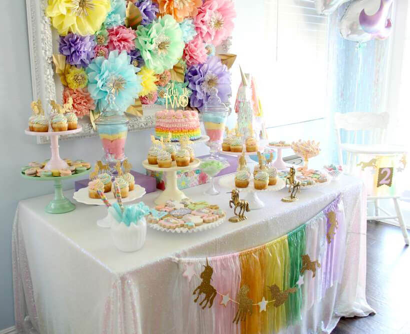 Springtime Party Color Palettes   Halfpint Design - Rainbow parties can be toned down using softer pastel versions