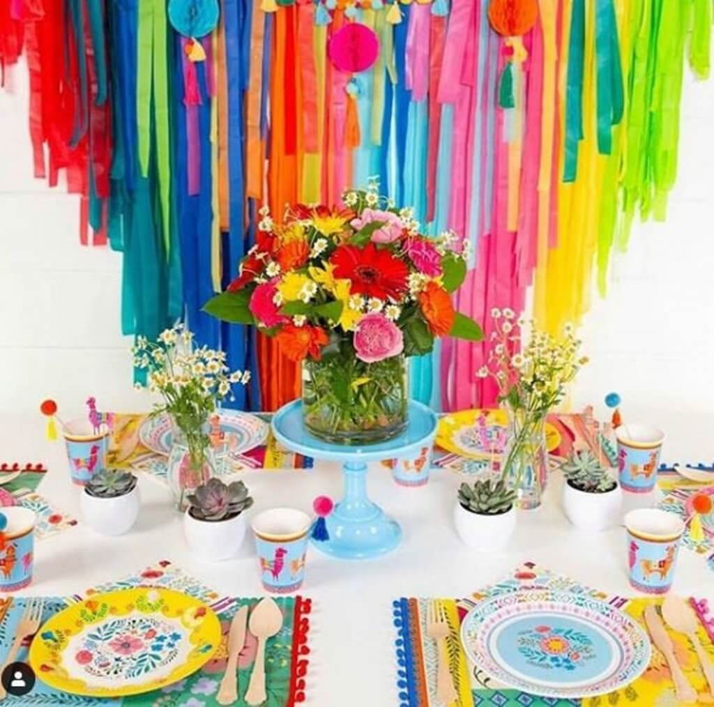 Table decorated for fabulous fiesta