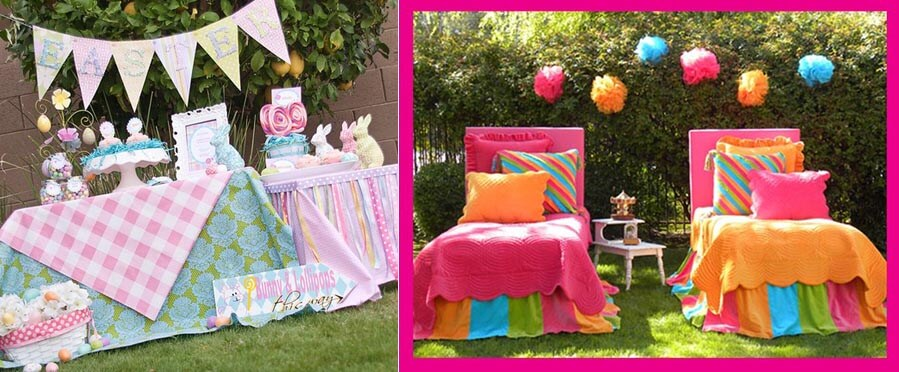 Springtime Party Color Palettes | Halfpint Design - pastels vs brights. Both have their place