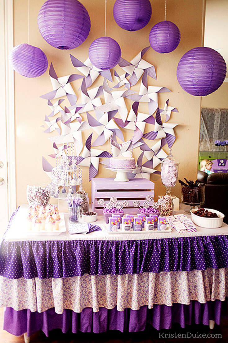 A Passion for Purple | Halfpint Design - Great party for a birthday girl with a passion for purple! The party was decorated with all things purple.
