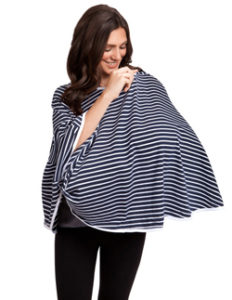 Practical Baby Shower Gifts for Breastfeeding Moms | Halfpint Design - This nursing cover is awesome for coverage and discretion. It also functions as a carseat and grocery cart cover!