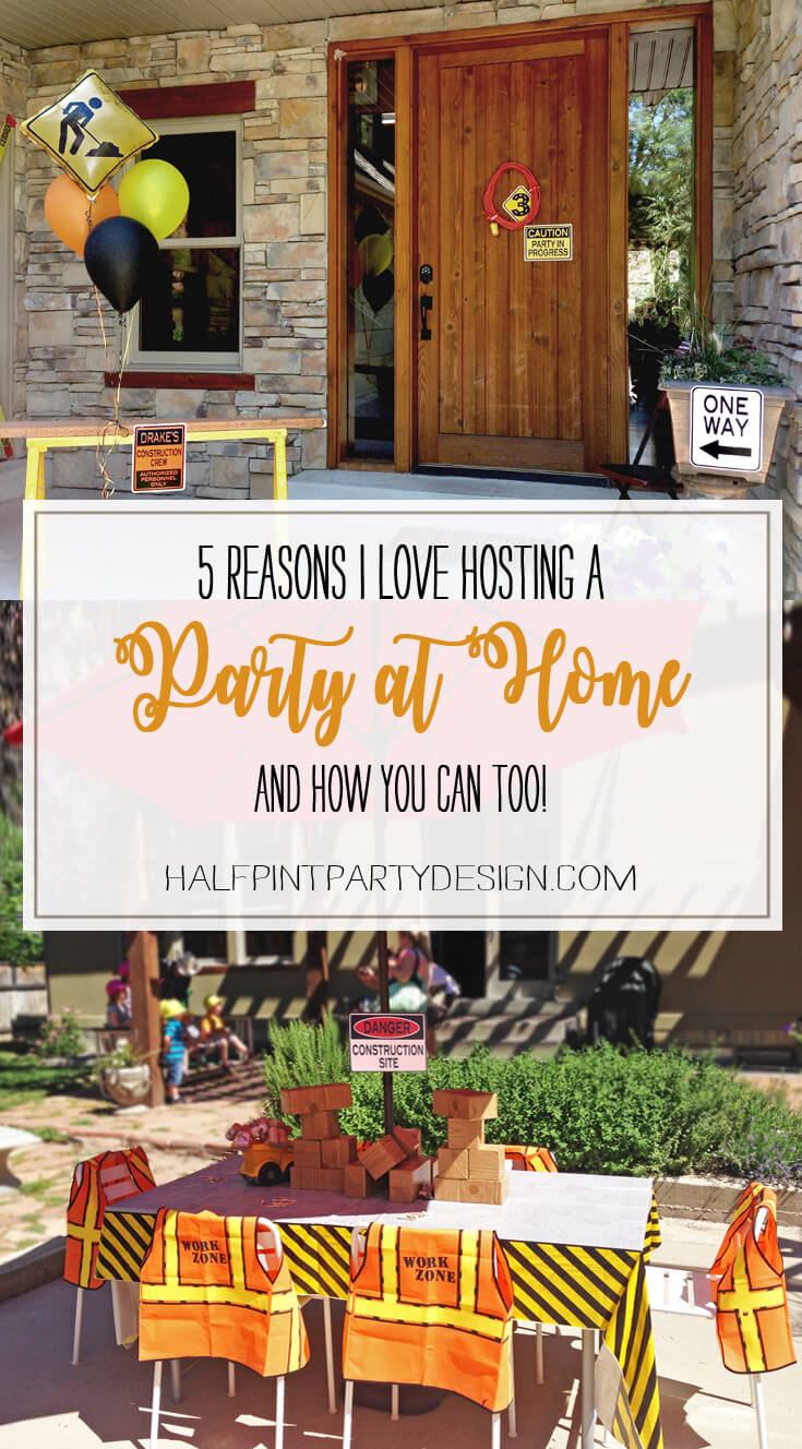 Why Host a Party at Home? | Halfpint Design - You have more flexibility with decor options to welcome guests to your party. I love decorating the front porch, using the inside of the house, and spilling out into the backyard so the house doesn't feel too cramped. Outdoors are a must for messy activities!
