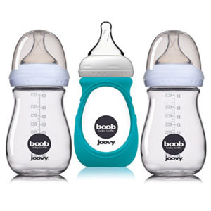 16 Best Baby Shower Gifts for Mom | Halfpint Design - Whether you are bottle feeding formula or breastmilk a good bottle is critical if you ever want to be away from your baby for more than 3 hours. The Joovy Boob bottle is a great cross over during breastfeeding to avoid nipple confusion. It's also made of glass so there's no concern with chemical leeching plastics. I do recommend the sleeve to protect it.