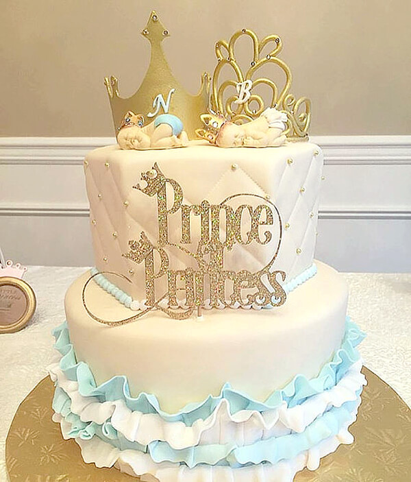 Classy Gender Reveal Party Ideas | Halfpint Design - Prince or Princess? A theme for a more sophisticated affair.