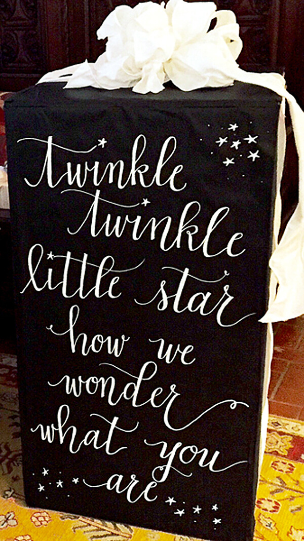 """Classy Gender Reveal Party Ideas   Halfpint Design - """"Twinkle twinkle little star, how I wonder what you are?"""" I love this lyric for a baby shower or gender reveal. Definitely a classic!"""