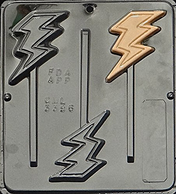 Create a Superhero cupcake topper or chocolate sucker with this lightning bolt candy mold. Wonder Woman Party Food   Halfpint Design, party ideas, party themes