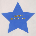 6th Birthday Book Party | Halfpint Design - Neon Star Lunch Napkins