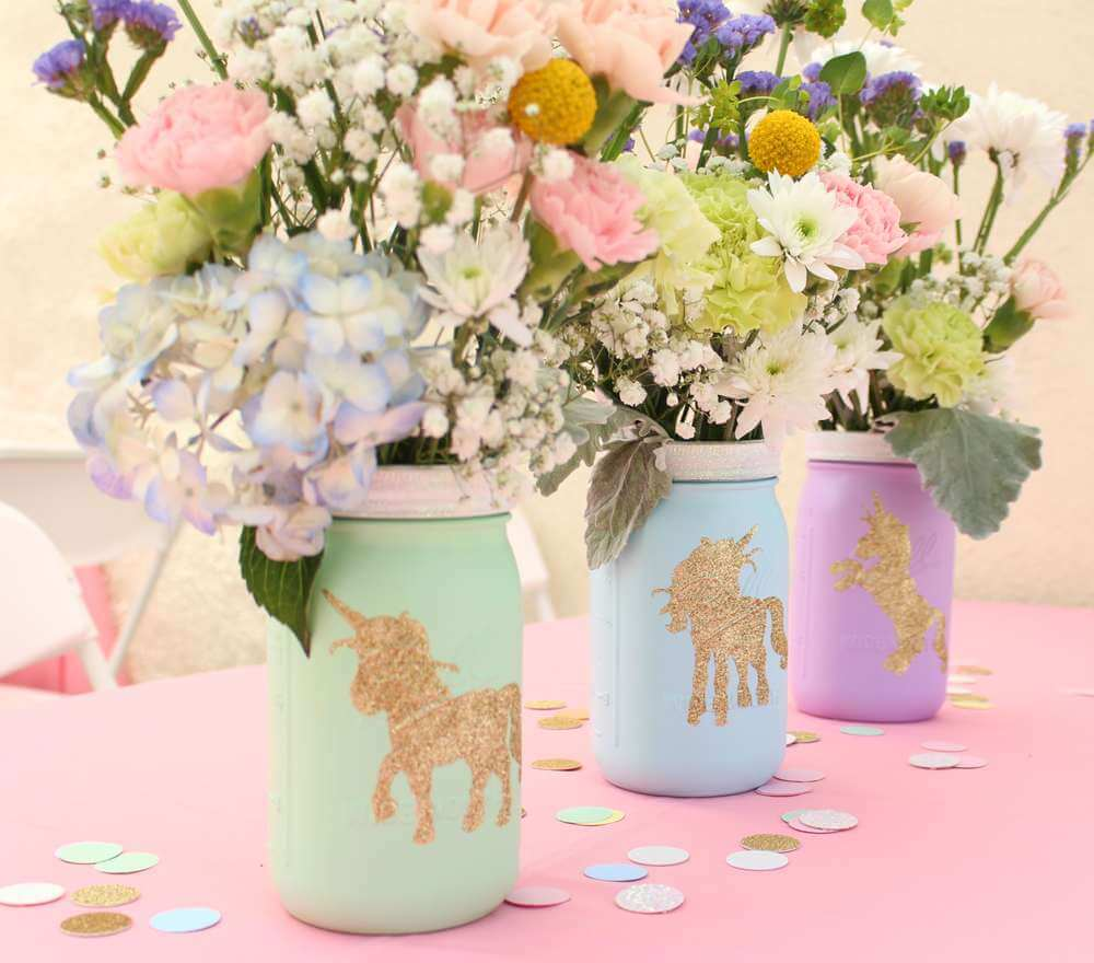 Holiday Decor Double Duty | Halfpint Design - This pastel unicorn party is perfect before or after Easter, making it the perfect springtime birthday party theme. Double Duty Easter Decor