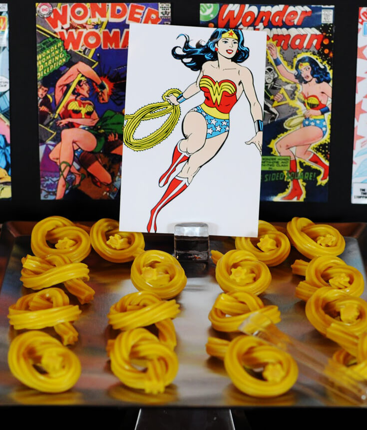 Wonder Woman Party Food Halfpint Party Design