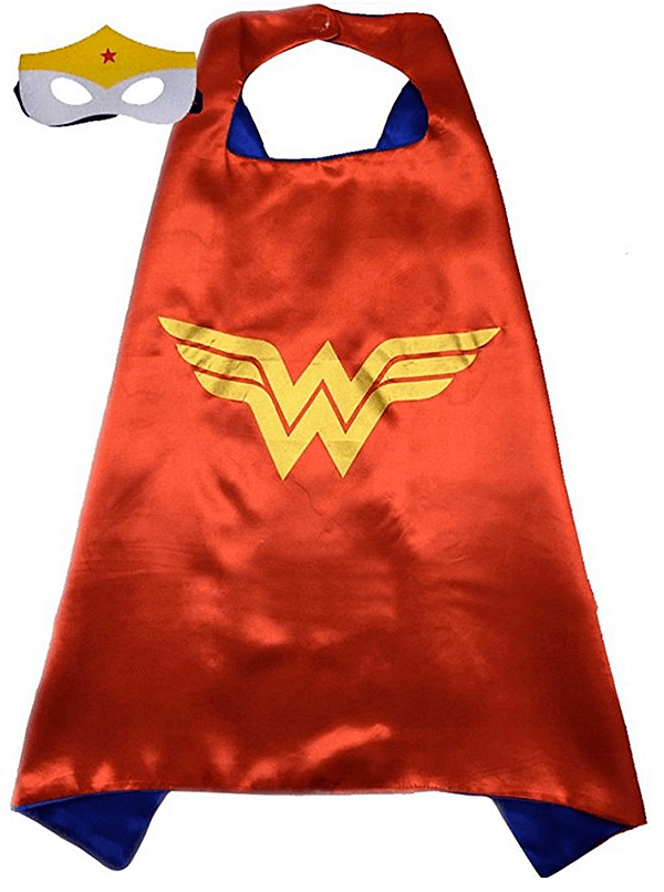 A cape and a mask are always a good idea! Keep you guest list trim and get a few as favors. Classy Wonder Woman Birthday Party Decor | Halfpint Design