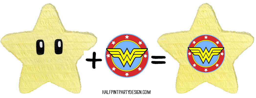 Simple upgrades to personalize party items for your theme, without breaking the budget. Classy Wonder Woman Birthday Party Decor | Halfpint Design