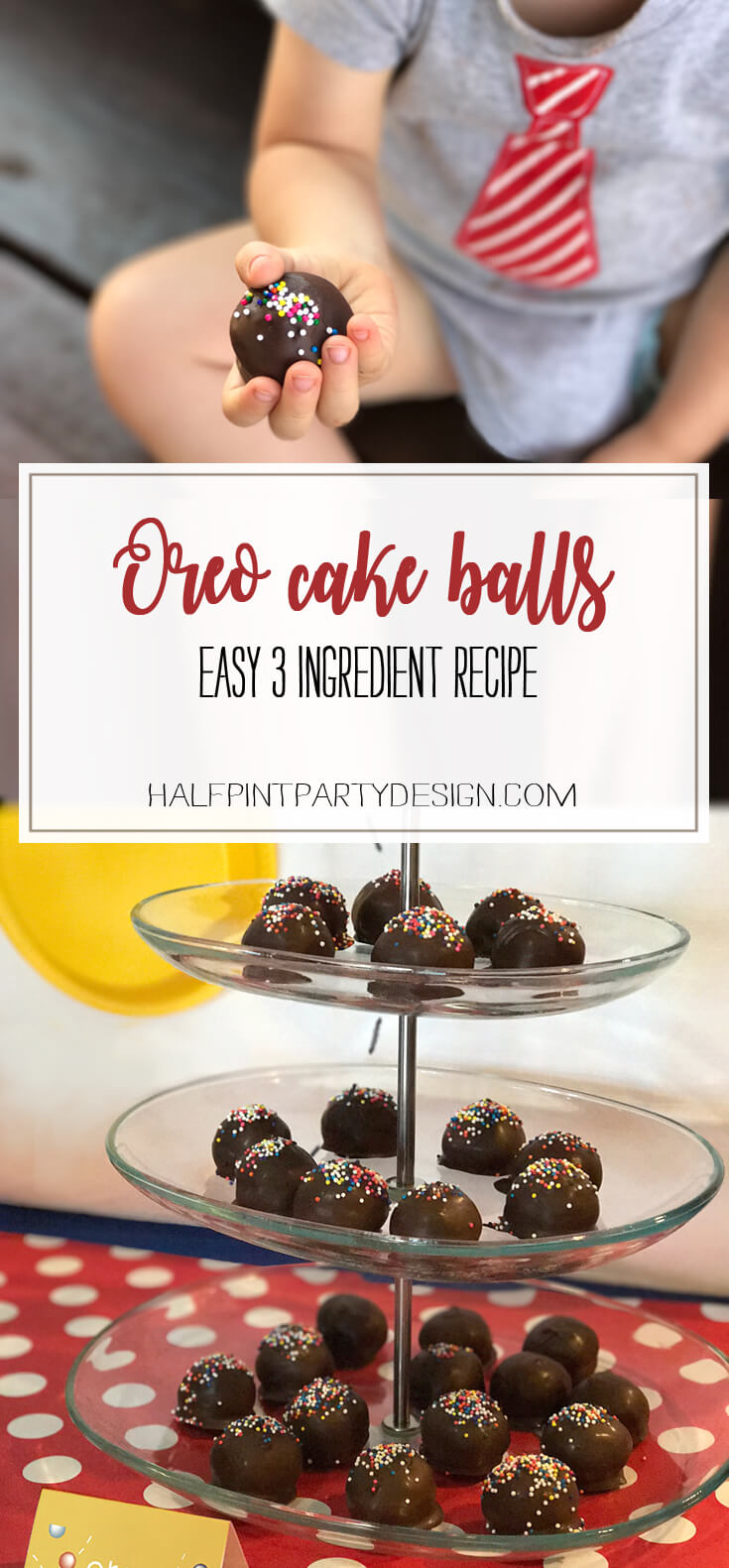 Easy Oreo Cake Ball Recipe | Halfpint Design - Oreo Cake Balls are a simple dessert that looks like a million bucks. No one will know how easy was. They'll just remember how tasty they are!