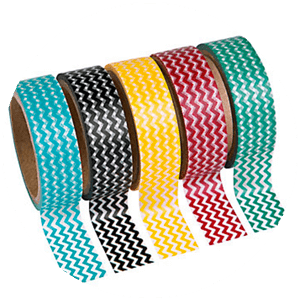 Chevron washi tape is the perfect supply for a circus craft - Carnival Crafts for Busy Bodies | Halfpint Design, circus craft, circus party, carnival party, kids crafts, kids activities.