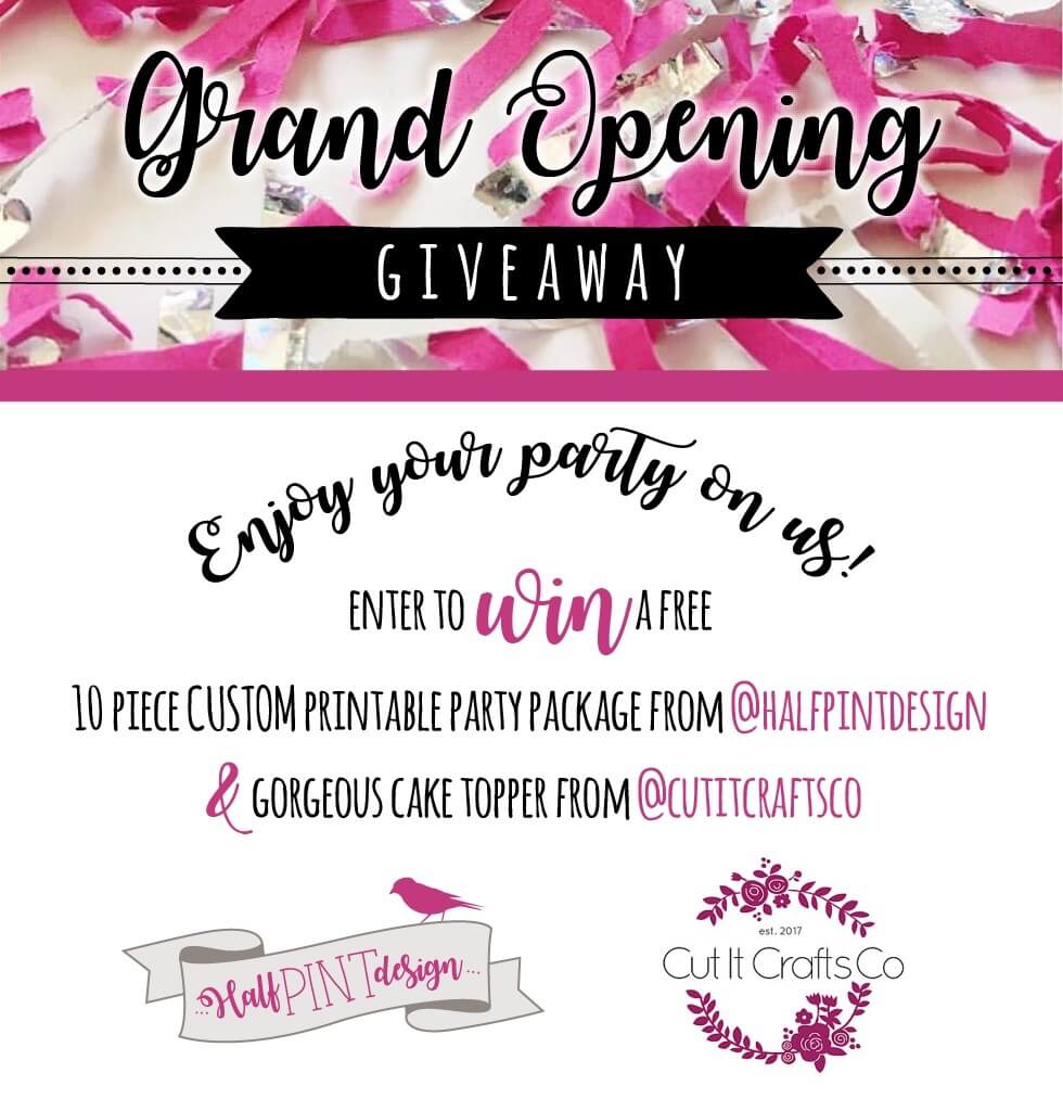 Halfpint Design celebrates a half birthday with the launching of a new Halfpint Party Design Etsy Shop and Spoonflower Studio. Hosting an Instagram giveaway that ends Sunday, August 20, 2017.