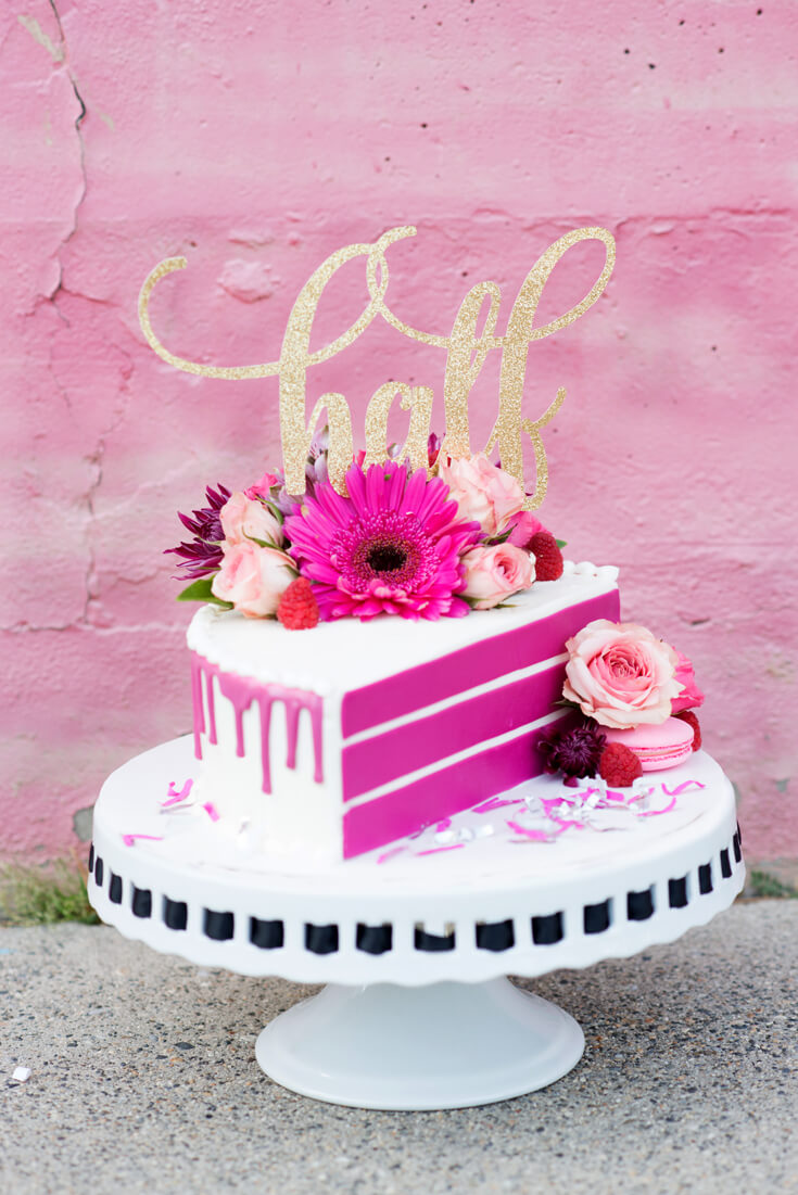 "Halfpint Design celebrates a half birthday with the launching of a new Halfpint Party Design Etsy Shop! Who wants a piece of our ""half"" cake?"