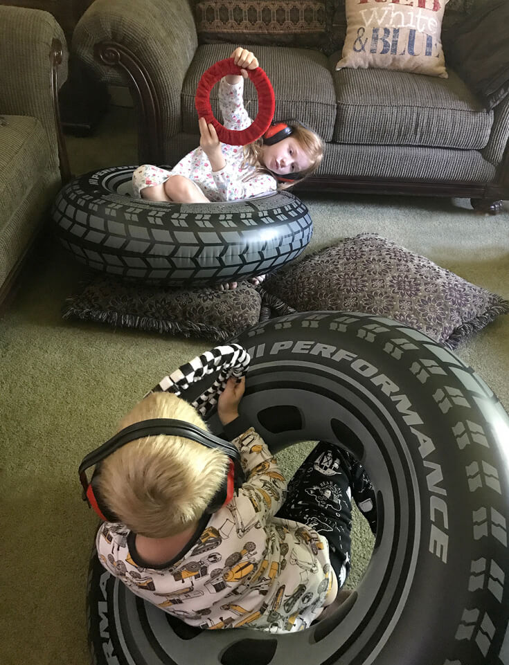 """After party imagination! I loved seeing the kids continue to play """"Monster Truck Races"""" after the party was long over. Monster Truck Birthday Party Smash! Halfpint Design with Party Printables from HalfpintPartyDesign on Etsy. Boy party theme. 5th birthday."""