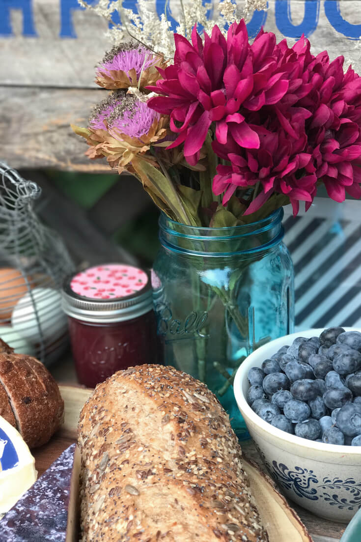 Farmer's Market Harvest Brunch | Halfpint Design - Fall entertaining, garden food, clean eating