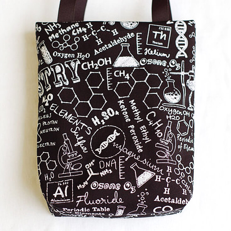 How cool would these be as a favor bag for budding scientists to be used again and again as a school bag or library bag? I love when party favors are actually useful. Mad Science Party Ideas | HalfpintPartyDesign - Science Party, Science Food, STEM party, Mad Science