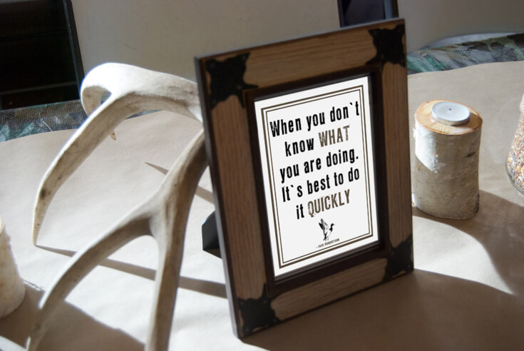 """Duck Dynasty quote: """"When you don't know what you're doing, it's best to do it quickly!"""" Hunting Themed Birthday Party 