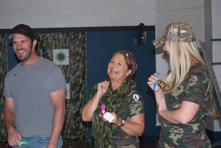 """The birthday girl enjoyed the """"duck"""" calling competition. Hunting Themed Birthday Party 