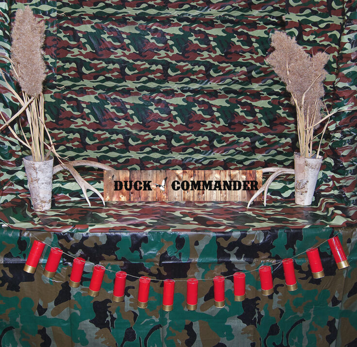 Photobooth backdrop hunting party. Hunting Themed Birthday Party | Halfpint Design - Duck Dynasty, duck hunt party, hunting party, birthday party theme